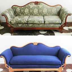 Ремонт и перетяжка классического дивана