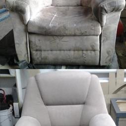 Перетяжка и ремонт тканевого кресла