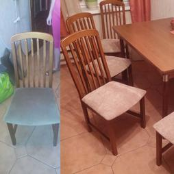 Замена обивки сидений стульев на кухне
